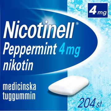 Nicotinell Peppermint Medicinskt nikotintuggummi, 4 mg, 204 st