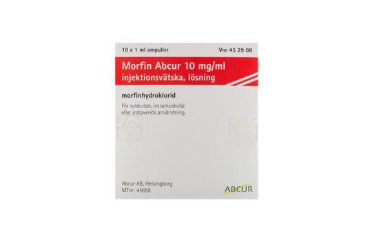 Morfin Abcur Injektionsvätska, lösning 10 mg/ml Morfin 10 x 1 milliliter
