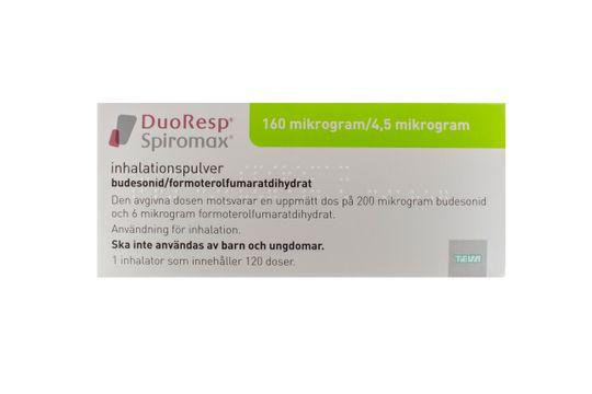 DuoResp Spiromax Inhalationspulver 160 mikrogram/4,5 mikrogram/dos Budesonid + formoterol 1 x 120 dos(er)