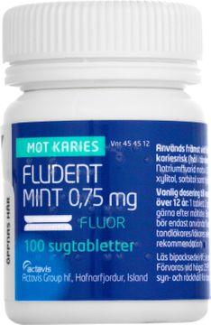 Fludent Mint 0,75 mg Natriumfluorid, sugtablett, 100 st
