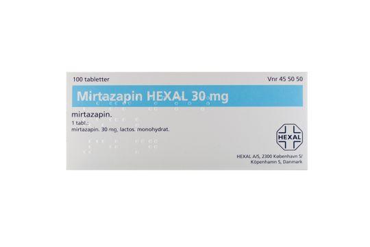 Mirtazapin Hexal Filmdragerad tablett 30 mg Mirtazapin 100 styck