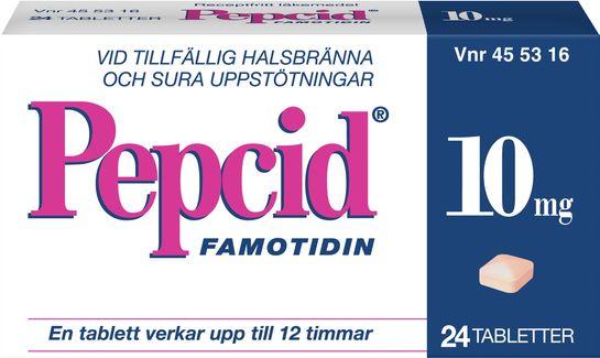 Pepcid 10 mg Famotidin Tablett, 24 st