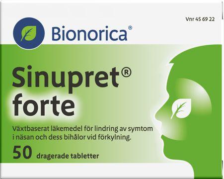 Bionorica Sinupret forte För lindring av symtom vid förkylning. 50 st