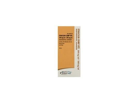 Ethacilin Comp. vet. Injektionsvätska, suspension 200 mg/ml+200 mg/ml 100 milliliter
