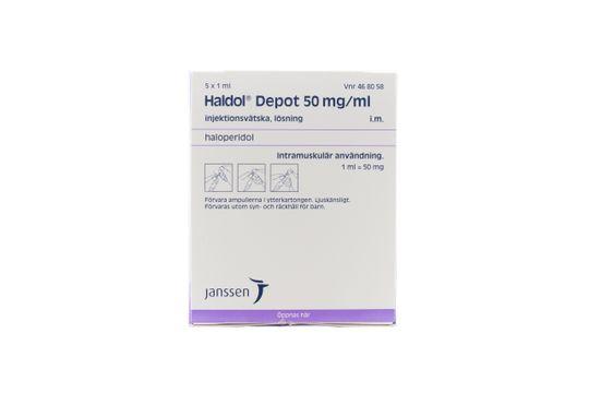 Haldol Depot Injektionsvätska, lösning 50 mg/ml Haloperidol 5 x 1 milliliter