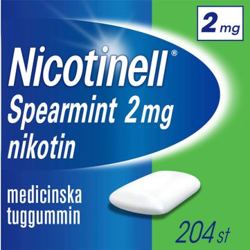 Nicotinell Spearmint 2 mg Nikotin, medicinskt tuggummi, 204 st