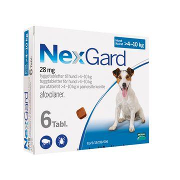 NEXGARD för hund >4-10 kg Tuggtablett 28,3 mg 6 tablett(er)