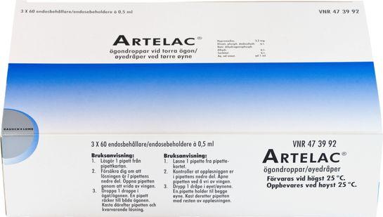 Artelac Ögondroppar, lösning i endosbehållare Hypromellos 180 x 0,5 milliliter