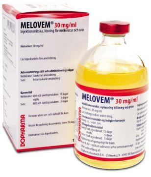 Melovem Injektionsvätska, lösning 30 mg/ml 100 milliliter