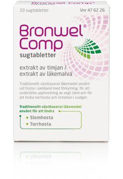 Bronwel Comp Sugtablett, 20 st