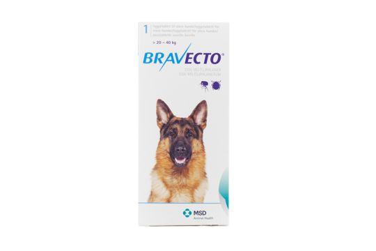 Bravecto för stora hundar (>20-40 kg) Tuggtablett 1000 mg 1 tablett(er)