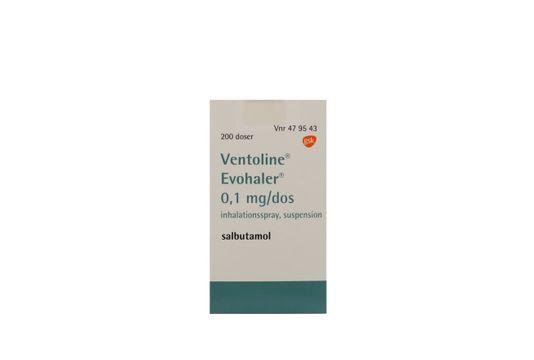 Ventoline Evohaler Inhalationsspray, suspension 0,1 mg/dos 200 dos(er)