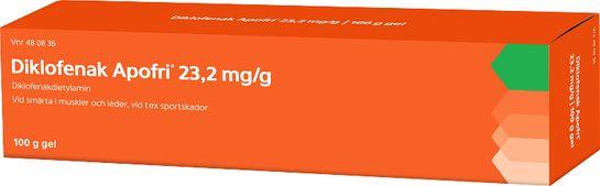 Diklofenak Apofri Gel 23,2 mg/g Diklofenak 100 gram