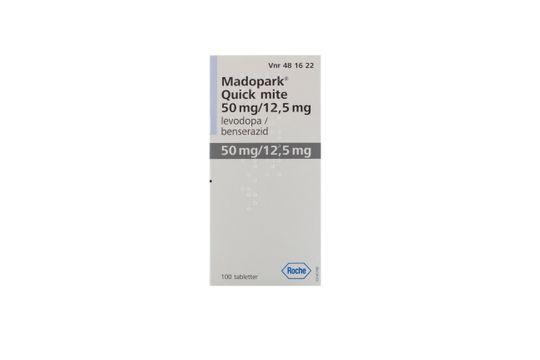 Madopark Quick mite Tablett 50 mg/12,5 mg Levodopa + benserazid 100 styck