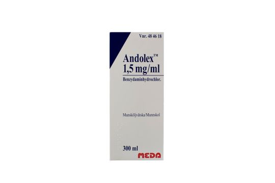 Andolex Munsköljvätska 1,5 mg/ml 300 milliliter