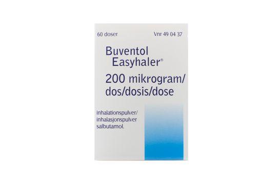 Buventol Easyhaler Inhalationspulver 200 mikrogram/dos 60 dos(er)