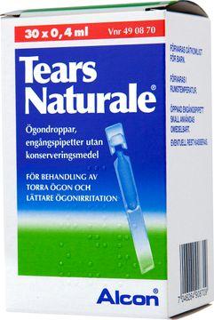 Tears Naturale Ögondroppar, lösning i endosbehållare 3 mg/ml + 1 mg/ml 30 x 0,4 milliliter
