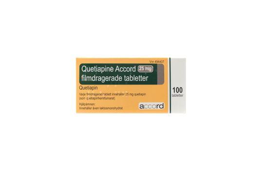Quetiapine Accord Filmdragerad tablett 25 mg Kvetiapin 100 tablett(er)