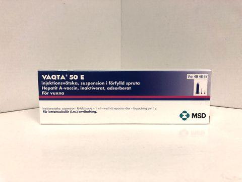 Vaqta Injektionsvätska, suspension, förfylld spruta 50 E 1 milliliter