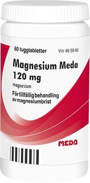 Magnesium Meda Tuggtablett 120 mg 60 styck