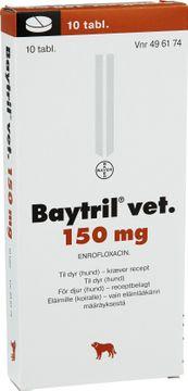 Baytril vet. Tablett 150 mg 10 styck