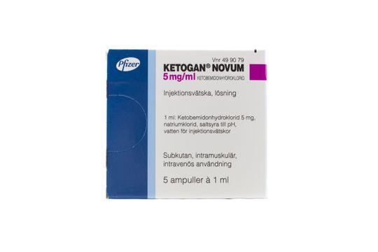 Ketogan Novum Injektionsvätska, lösning 5 mg/ml 5 x 1 milliliter
