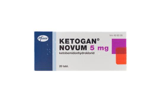 Ketogan Novum Tablett 5 mg 20 styck