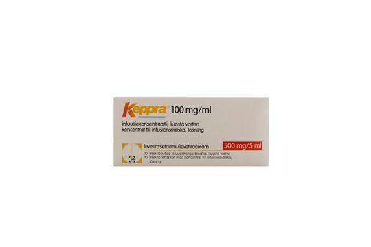 Keppra Koncentrat till infusionsvätska, lösning 100 mg/ml Levetiracetam 10 x 5 milliliter