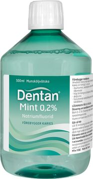 Dentan Mint 0,05 % Natriumfluorid, munsköljvätska, 500 ml