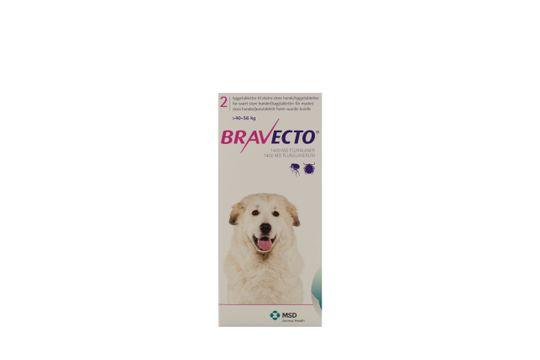 Bravecto för mycket stora hundar (>40-56 kg) Tuggtablett 1400 mg 2 tablett(er)