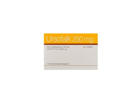 Ursofalk Kapsel, hård 250 mg Ursodeoxicholsyra 100 styck