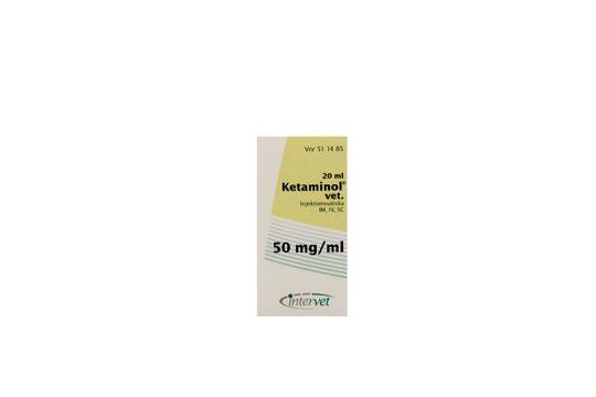 Ketaminol vet. Injektionsvätska, lösning 50 mg/ml 20 milliliter