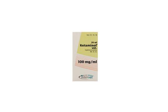 Ketaminol vet. Injektionsvätska, lösning 100 mg/ml 20 milliliter