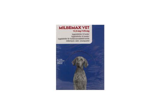 Milbemax vet. Tuggtablett 12,5 mg/125 mg 48 styck