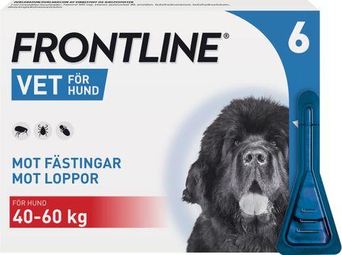 Frontline vet. 100 mg/ml Fipronil, spot-on, lösning, 6x4,02 ml