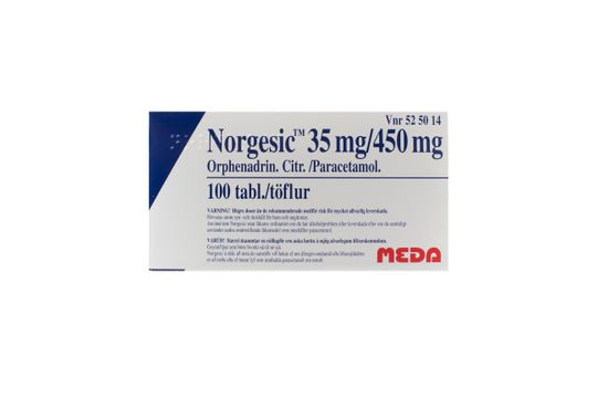 Norgesic Tablett 35 mg/450 mg 100 styck