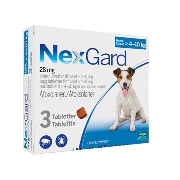 NEXGARD för hund >4-10 kg Tuggtablett 28,3 mg 3 tablett(er)