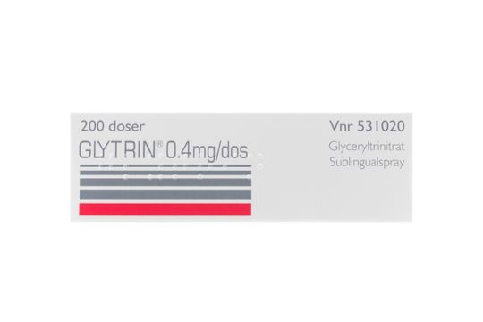 Glytrin Sublingualspray 0,4 mg/dos Glyceryltrinitrat 200 dos(er)