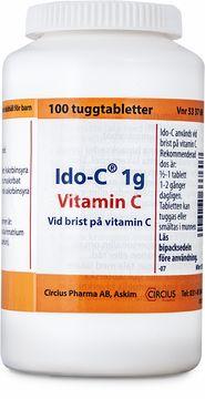 Ido-C Tuggtablett 1 g 100 styck