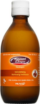 Nipaxon 2,5 mg/ml Noskapin, oral suspension, 250 ml
