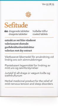 Florealis Sefitude Vid oro och sömnrubbning, 60 st