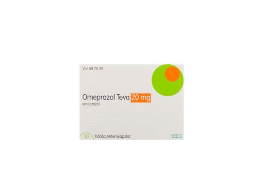 Omeprazol Teva Enterokapsel, hård 20 mg Omeprazol 30 kapsel/kapslar