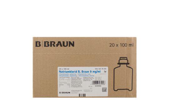Natriumklorid B. Braun Infusionsvätska, lösning 9 mg/ml Natriumklorid 20 x 100 milliliter