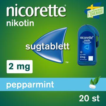 Nicorette Pepparmint Komprimerad sugtablett med nikotin, 2 mg, 20 tabletter