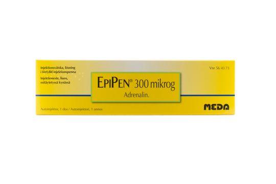 EpiPen Injektionsvätska, lösning i förfylld injektionspenna 300 mikrogram Adrenalin 1 dos(er)