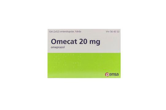 Omecat Enterokapsel, hård 20 mg Omeprazol 2 x 52 kapsel/kapslar