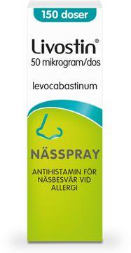 Livostin 50 mikrogram/dos Levokabastin, nässpray, 150 doser