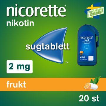 Nicorette Frukt 2 mg Nikotin sugtablett, 20 st