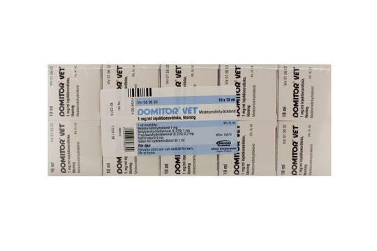 Domitor vet. Injektionsvätska, lösning 1 mg/ml 10 x 10 milliliter