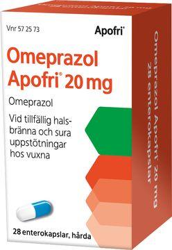 Omeprazol Apofri 20 mg Omeprazol, enterokapsel hård, 28 st